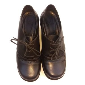 ❤Dansko Anisette Oxfords Shoes Black Lace Up Sz 37
